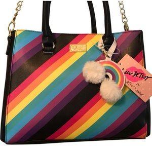 Betsey Johnson Rainbow 🌈 Satchel NWT